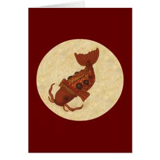 Steampunk Koi Card