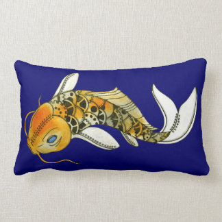 Steampunk Koi Lumbar Pillow