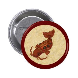 Steampunk Koi Pin Redondo 5 Cm