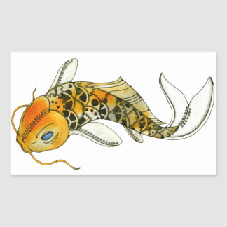 Steampunk Koi Rectangular Sticker
