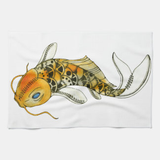 Steampunk Koi Towel