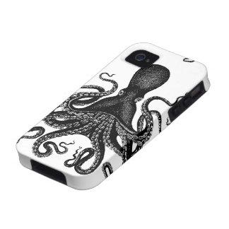 Steampunk Kraken duro - pulpo del Victorian iPhone 4 Carcasa