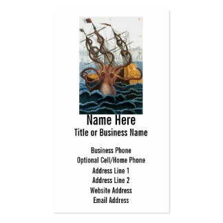 Steampunk Kraken Giant Octopus Nautical Business Cards