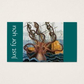 Steampunk Kraken Giant Octopus Nautical Business Card