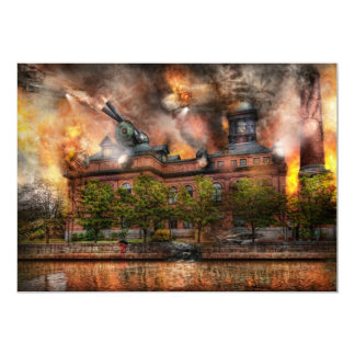 Steampunk - la guerra ha comenzado invitación 12,7 x 17,8 cm
