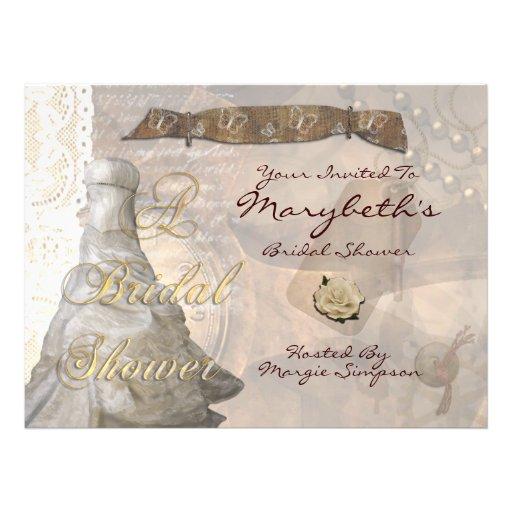 Steampunk Lace Personalized Invite