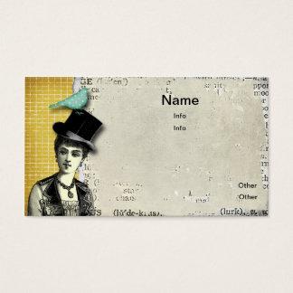 Steampunk Lady Business Card