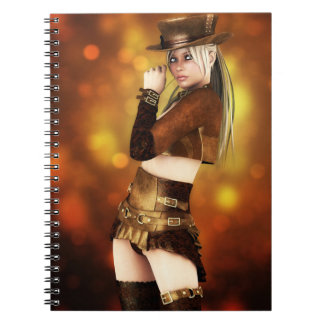 Steampunk Lady Notebook