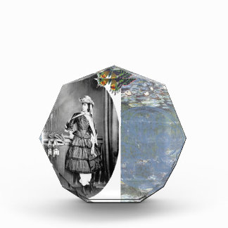 Steampunk Lady Victorian Vintage Photo Butterfly Acrylic Award