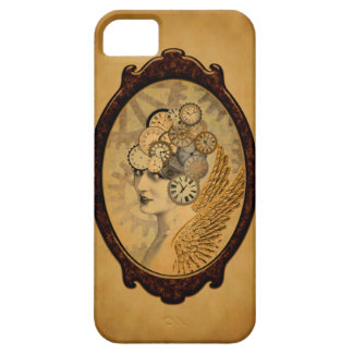 Steampunk Lady, Wings and Clock Faces iPhone SE/5/5s Case
