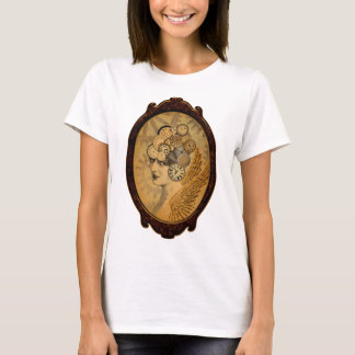 Steampunk Lady, Wings and Clock Faces T-Shirt