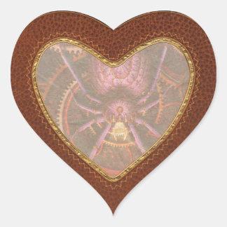Steampunk - las telas que tejemos calcomanías de corazones