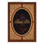 Steampunk - las telas que tejemos tarjeta de felicitación