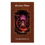 Steampunk - las telas que tejemos tarjetas de visita