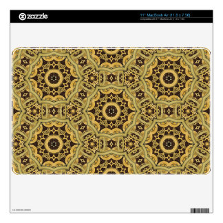 Steampunk Leather and Brass Mandala Macbook Decals For The MacBook