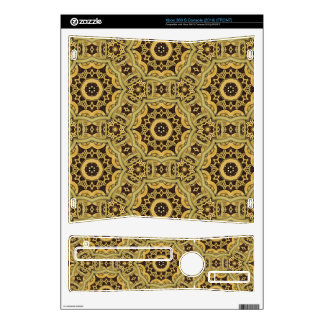 Steampunk Leather and Brass Mandala Xbox Skins For Xbox 360 S