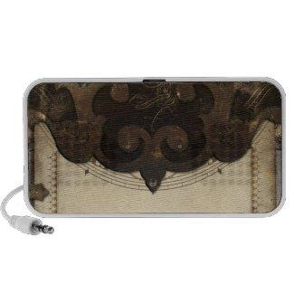 Steampunk Leather Flap Speaker doodle