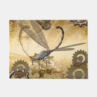 Steampunk, libélulas del vapor con los engranajes felpudo