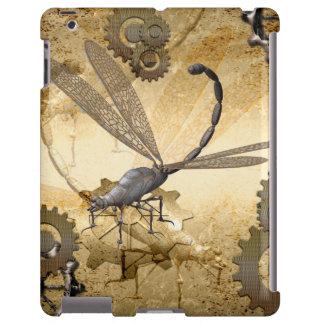 Steampunk, libélulas impresionantes del vapor con funda para iPad