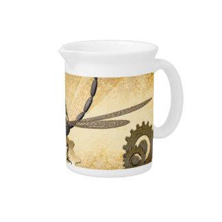 Steampunk, libélulas impresionantes del vapor con jarras