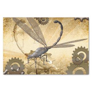 Steampunk, libélulas maravillosas del vapor papel de seda pequeño