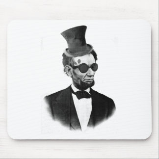 Steampunk Lincoln Mouse Pad