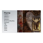 Steampunk - Locksmith - The key to my heart Business Card Templates