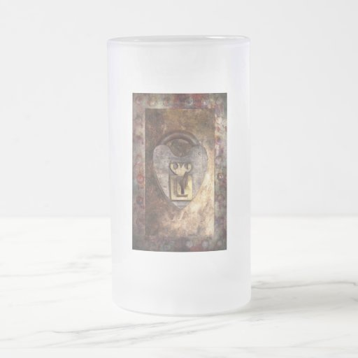 Steampunk - Locksmith - The key to my heart 16 Oz Frosted Glass Beer Mug