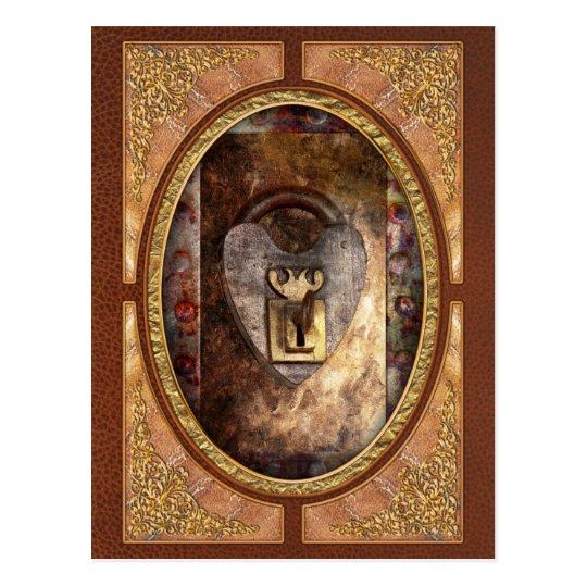 Steampunk - Locksmith - The key to my heart Postcard