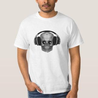 steampunk lucky eight ball skull dj T-Shirt