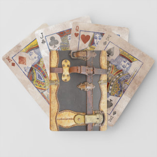 Steampunk Luggage Bicycle Playing Cards