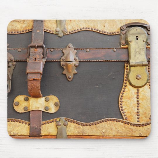 Steampunk Luggage Mouse Pad