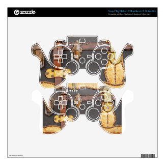 Steampunk Luggage PS3 Controller Skins