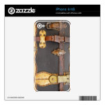 Steampunk Luggage Skins For The iPhone 4