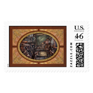 Steampunk - Machine - All the bells and whistles Postage Stamp