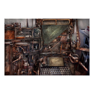Steampunk - Machine - All the bells and whistles Poster