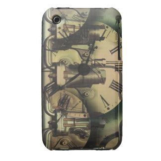 Steampunk Machine Fitting Textured Clock Faces iPhone 3 Case-Mate Case