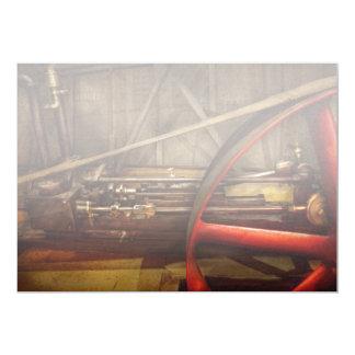"Steampunk - Machine - The wheel works 5"" X 7"" Invitation Card"