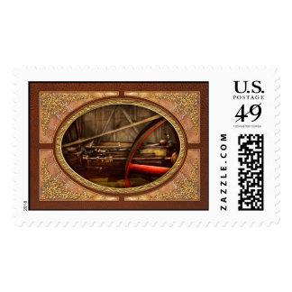 Steampunk - Machine - The wheel works Stamp