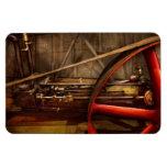 Steampunk - Machine - The wheel works Rectangular Magnet