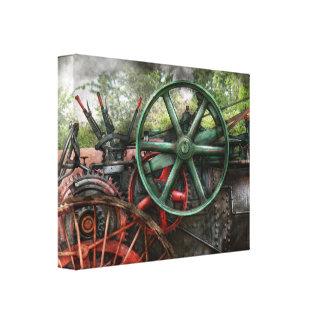 Steampunk - Machine - Transportation of the future Canvas Print