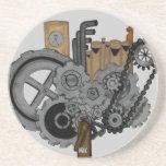 Steampunk Machinery Beverage Coasters