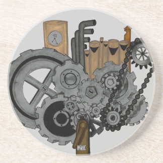 Steampunk Machinery Beverage Coasters