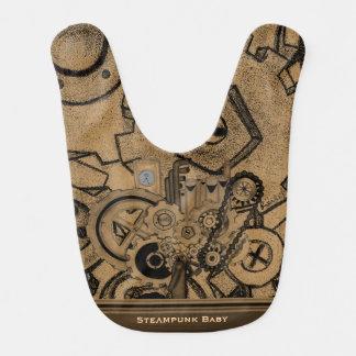 Steampunk Machinery (Brassy) Baby Bib