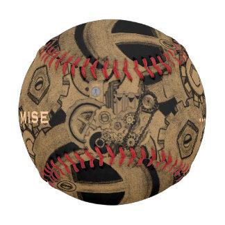 Steampunk Machinery (Brassy) Baseball