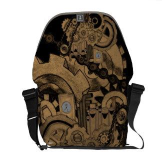 Steampunk Machinery (Brassy) Courier Bag