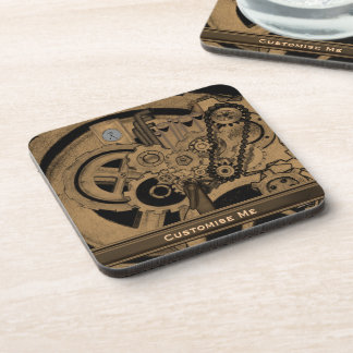 Steampunk Machinery (Brassy) Drink Coaster