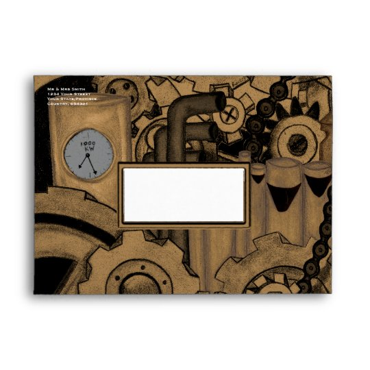 Steampunk Machinery (Brassy) Envelope