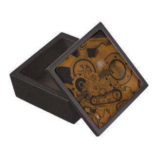 Steampunk Machinery (Brassy) Jewelry Box