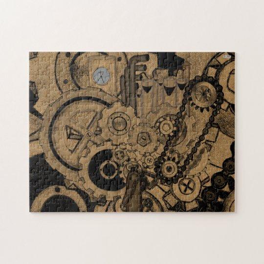 Steampunk Machinery (Brassy) Jigsaw Puzzle